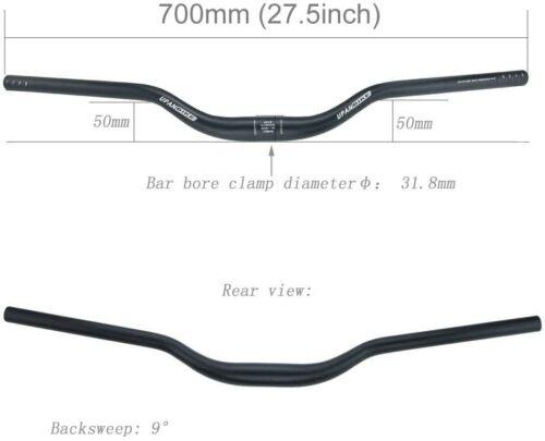 MTB Bike Bicycle Extra Long Handlebar Big Riser Bar 9 degrees 31.8mm 700mm B148