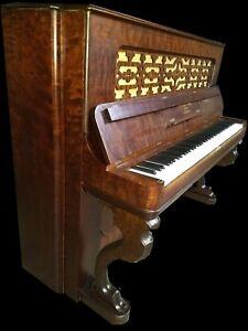 Superbe Reconditionné Steinway Debout Grand Piano.-afficher Le Titre D'origine