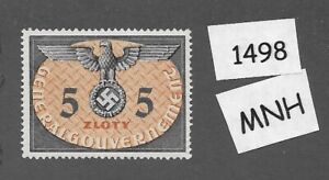 MNH stamp 5 ZL / WWII Symbol/  Occupied Poland / Third Reich era Germany 1940