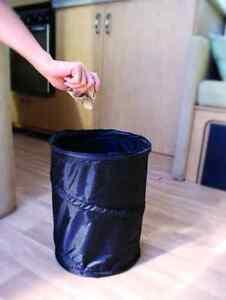 mini pop up utility storage container small trash can for rv camping truck car ebay. Black Bedroom Furniture Sets. Home Design Ideas