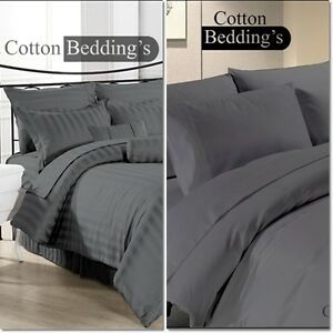Image Is Loading 1000 Tc 100 Egyptian Cotton Sheet Duvet Set