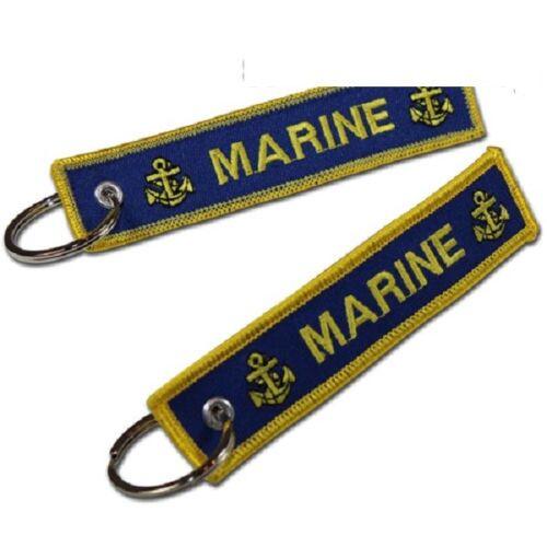 """Schlüsselanhänger /""""Marine/"""" 120x 25 mm 100/% Polyester WS100 010"""