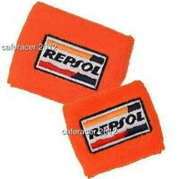 Repsol Honda Cbr Brake/clutch Reservoir Socks Fluid Tank Cover Orange 1000rr 600