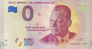 BILLET-0-EURO-WILLY-BRANDT-502-JAHRE-KANZLER-ALLEMAGNE-2019-NUMERO-4400
