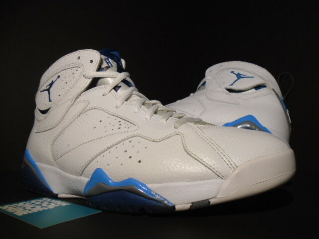 2015 Nike Air Jordan VII 7 Retro WHITE FRENCH blueE UNIVERSITY GREY 304775-107 11
