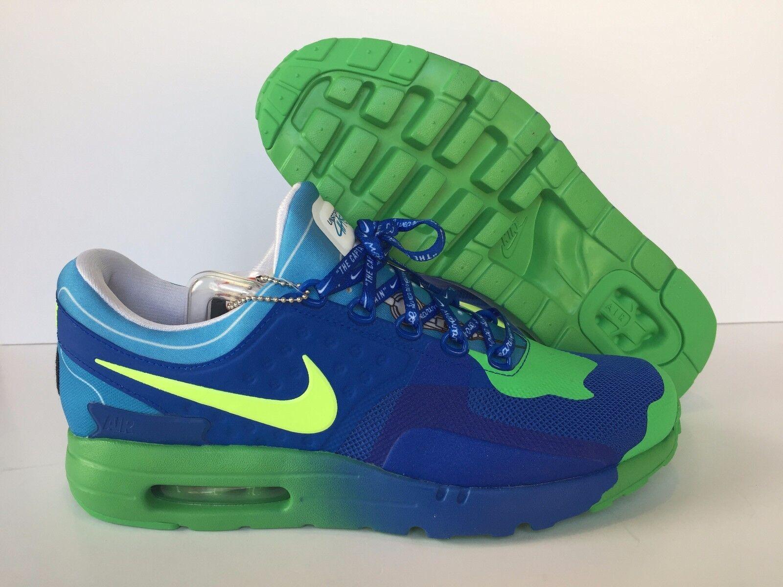 Nike Men's Air Max Zero DB Doernbecher Hyper Cobalt/Volt [898636-473] New Sz 9.5