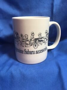 Details about Genuine Subaru Parts & Accessories Coffee Mug Advertising Cup  White