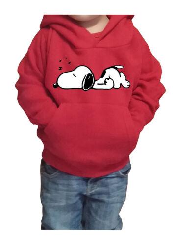to Snoopy 3 Peanuts Woodstock Cartoon /& Comics Fm10 Hooded Sweatshirt Child