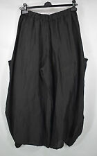 FAB GERMAN CHAMPAGNE  BLACK   BALLOON/HAREM TROUSERS SZ L/XL