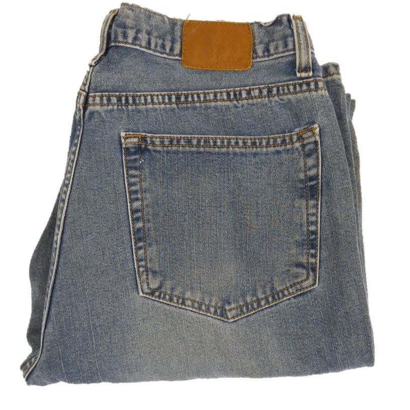 J. Crew Mens Jeans Sz 33x32 Light Wash Classic Fit Straight Leg 100% Cotton