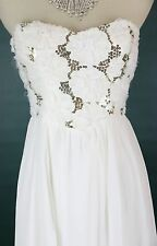 Speechless Ivory Formal Low High Junior Cruise Dress size 7 Long $80 Cruise