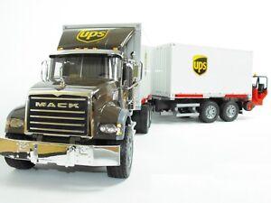 bruder 02828 mack granite ups wechselbr cke mit. Black Bedroom Furniture Sets. Home Design Ideas
