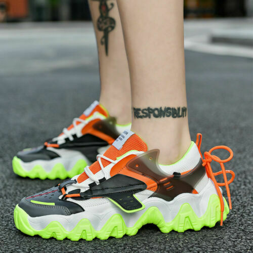 Men's Casual Shoes Breathable Clunky Sneakers Athletic Running Trainer Shoes