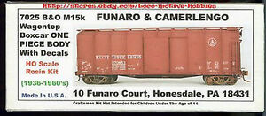 LMH-Funaro-7025-BALTIMORE-amp-OHIO-B-amp-O-M15k-Wagon-Top-BOXCAR-Kit-1-PIECE-BODY