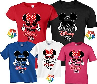 cb23bc26d498d My First Trip To Disney Family VACATION 2018 Mickey & Minnie MATCHING  T-Shirts | eBay