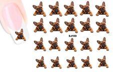 Französisch Bulldog french  NAGEL Stickers NAIL STICKERS-wasserlöslich SJ109
