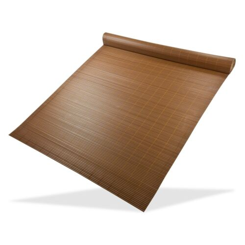 7.80€//1m Sichtschutzmatte 500x90-500x180cm grau bambus braun Balkon Garten Bli