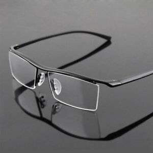 4df93e65509 Image is loading Titanium-Nickle-Free-Half-Rimless-Business-Glasses-Frame-