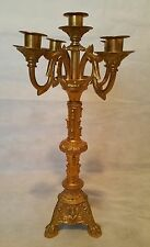 Gorgeous French Gilded Bronze Candelabra 5 Lights (Signed) L. F.  A  Paris