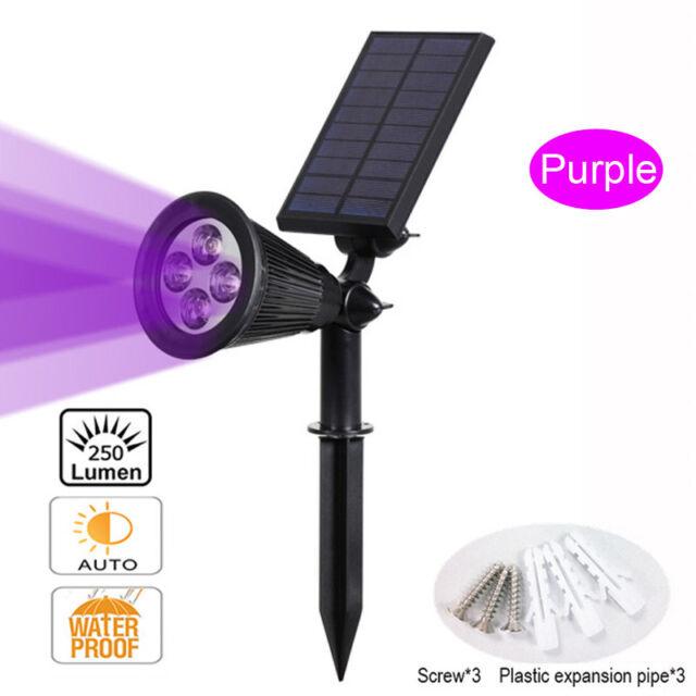 3 LED Solar Power Waterproof Garden Spot Light Outdoor Landscape Lawn Spotlights