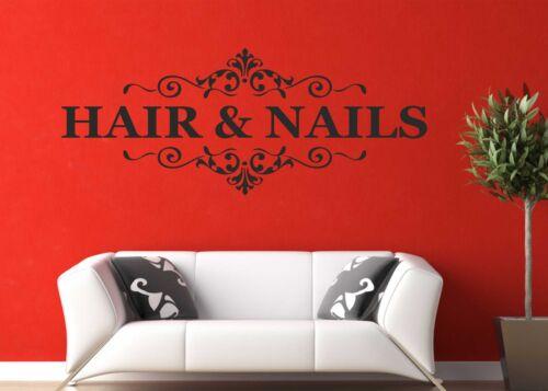 Hair /& Nails Wall Art Quote Sticker Nail Beauty Salon Hairdresser Shop Nail B76