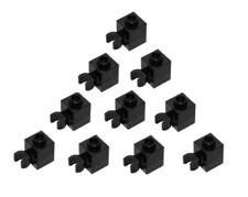 8 x LEGO® 60475 Systemstein Brick 1x1 W//Holder,Horizontal schwarz neu.