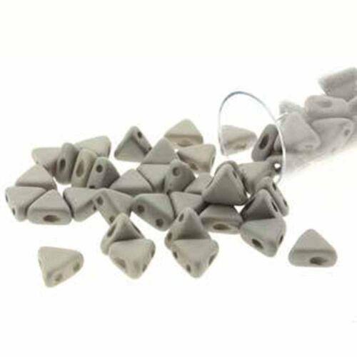 9 Gram Kheops Par Puca 6mm 2 Hole Triangle Czech Glass Beads 100 Colors U-Pick