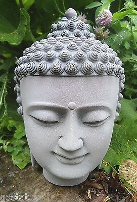 buddha buddah face plastic mold cement plaster concrete mould