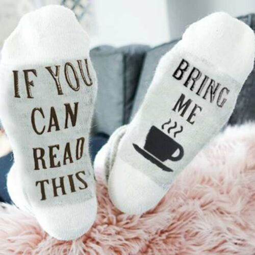1Pair Men Women Funny Socks If You Can Read This Bring Me Chocolate Casual Socks