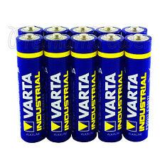 10x Varta AAA batteries Alkaline Industrial LR03 Micro 4003 MN2400 FREE Shipping