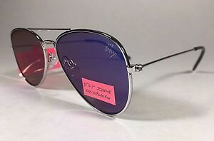 e2a30a8bc Image is loading New-Betsey-Johnson-Flat-Aviator-Sunglasses-Gray-Metal-