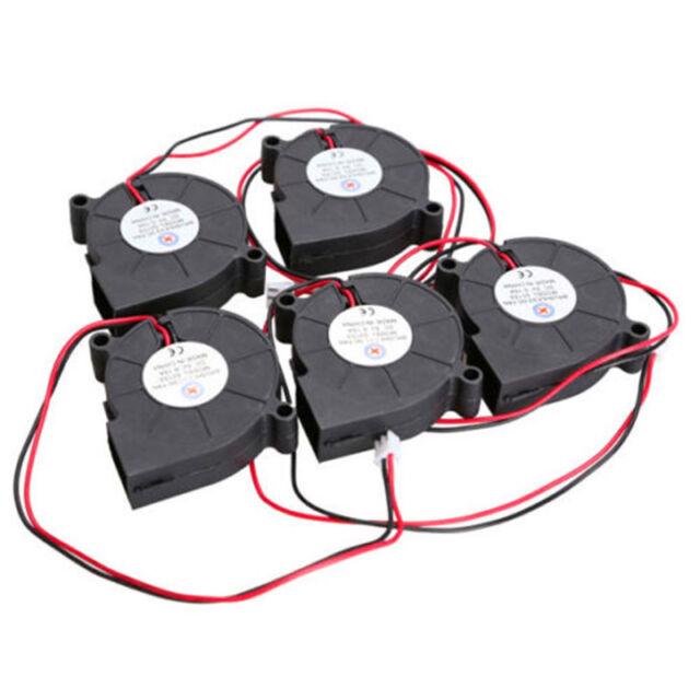 5Pcs Black Brushless DC Cooling Blower Fan 5015S 5V 0.1-0.3A 50x15mm