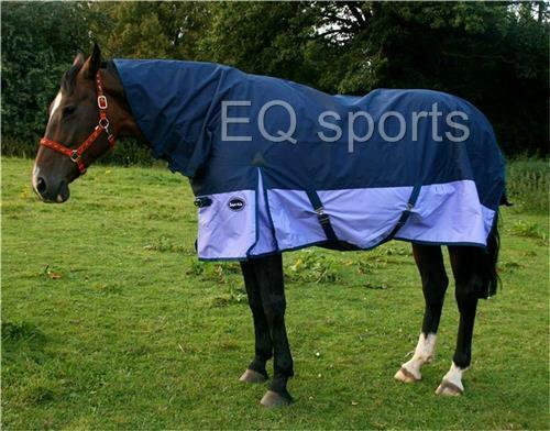 "FREE P&P Knight Rider Medium Weight Turnout Rug FNeck 3'0""4'3"" 250g PonyFoal"
