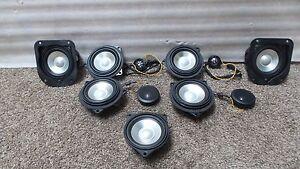 bmw e63 645 m6 650 logic 7 l7 speaker complete set. Black Bedroom Furniture Sets. Home Design Ideas