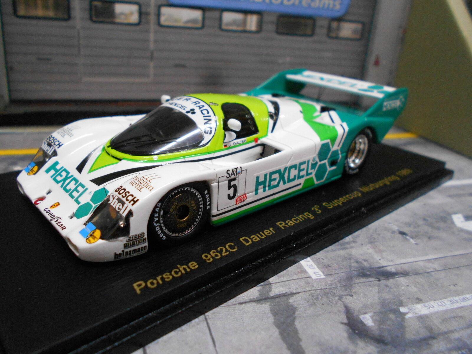 Porsche 962c 962 C durée racing Nurburgring 1989 Hexcel limit 1 300 spark 1 43