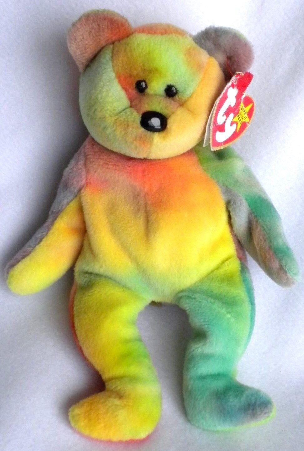 Garcia beanie baby - bär pvc - pellets tolle farben im ruhestand 1993