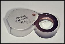 Economy Jewellers Loupe Eyeglass 10x Pocket Magnifier Watchmakers Hallmark Lens