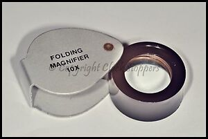 Economy-Jewellers-Loupe-Eyeglass-10x-Pocket-Magnifier-Watchmakers-Hallmark-Lens