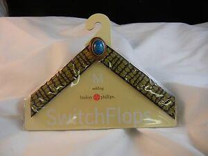Lindsay Phillips Switchflops Straps Ashling Medium NEW Gold