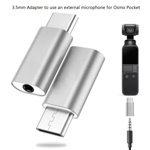 Type C USB C to 3.5mm Audio Adapter for External Microphone for Osmo Pocket