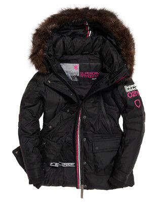 Linea donna Superdry CANADESE Giù cappotto parka da sci RRP £ 195