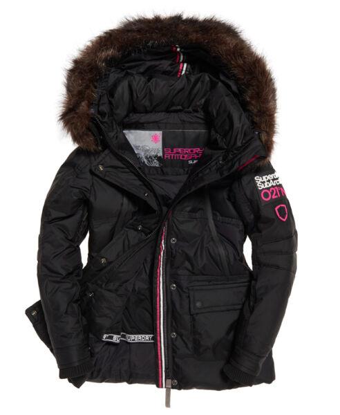 Abundante Para Mujer Chaqueta De Esquí Parka Superdry Canadiense Abajo Abrigo Rrp £ 195-ver