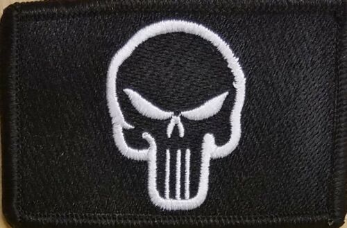 The Punisher Patch W// VELCRO® Brand Fastener Tactical Morale White Version #3