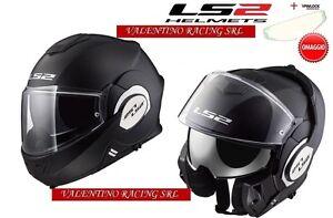 LS2-FF399-casco-VALIANT-SINGLE-MONO-MODULARE-BLACK-MATT-NERO-OPACO-MIS-XS-NEW
