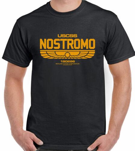 Mens NOSTROMO Retro Alien Movie Sci-fi,film T-Shirt 1157