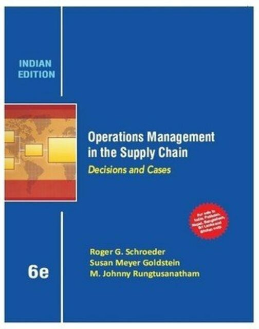 operations management in the supply chain decisions and cases by m rh ebay com Roger Schroeder Boyfriend for Christmas Roger Schroeder Illinois