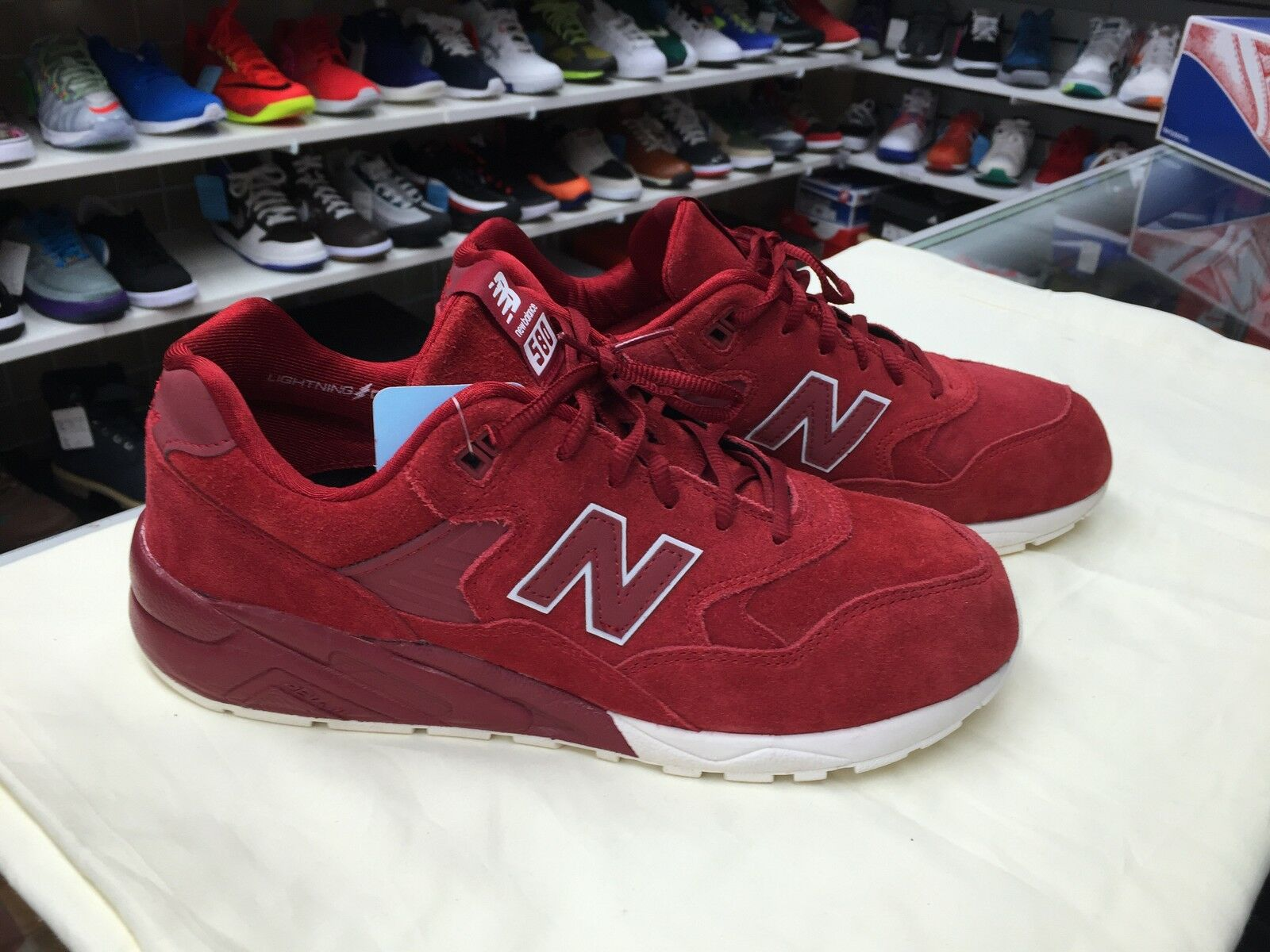 NEW BALANCE MRT580BR BRICK RED SIZE 9.5 MEN'S SNEAKERS AUTHENTIC 580