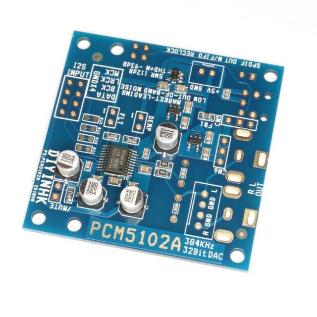 384kHz/32Bit PCM5102A DAC with I2S input and Ultra Low Noise Regulator 384k