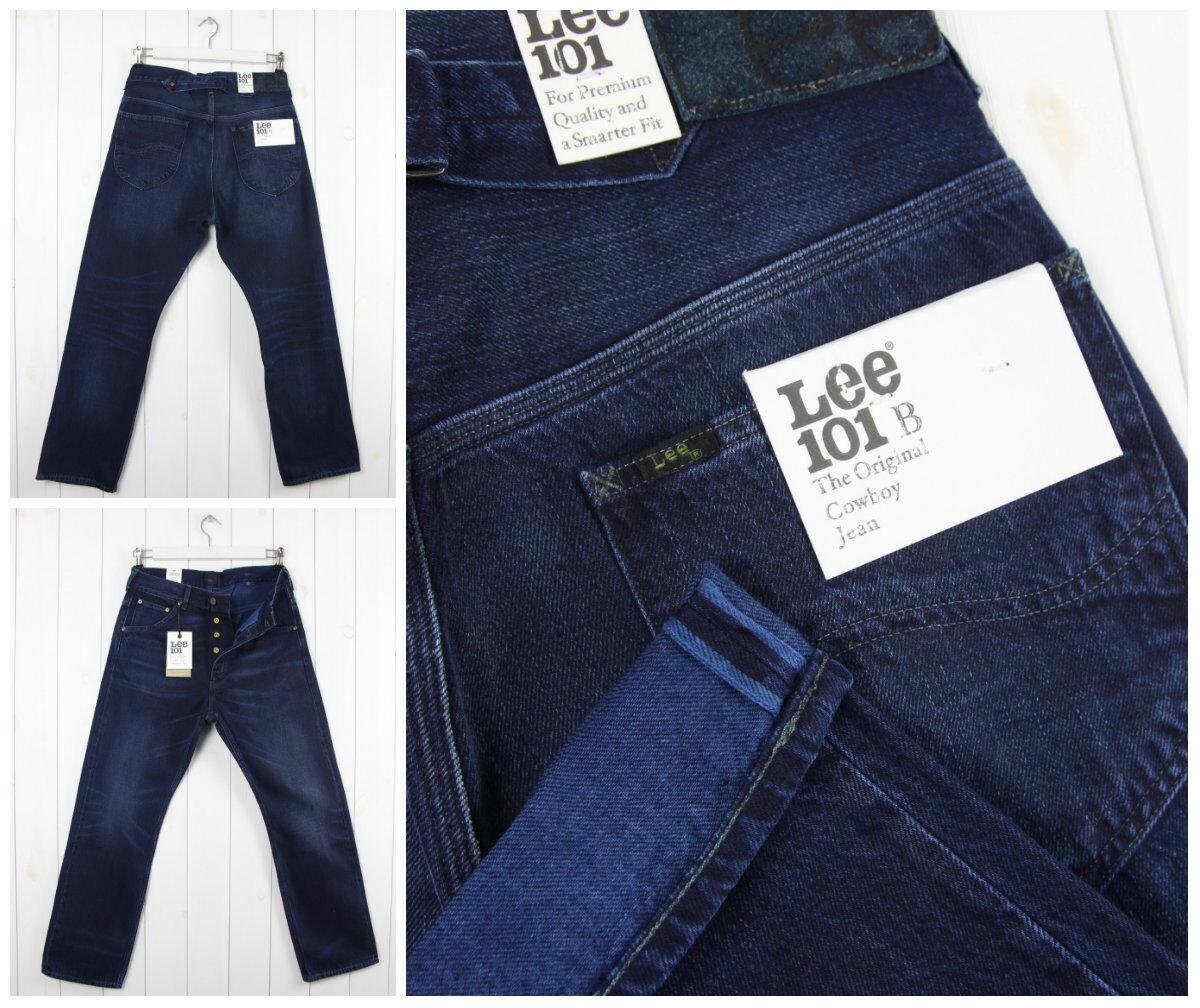 NEU Lee 101B Kanten Jeans lässig Rücken Jeans Vintage Regelmäßige gerade W32 L32