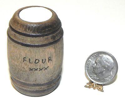 Dollhouse Miniature Barrel of Flour General Store Wood Island Crafts 1:12 Scale